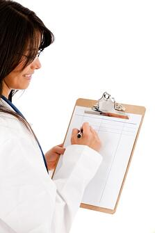 Physician with onboarding checklist