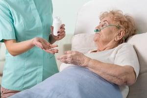 Nurse dispensing medication